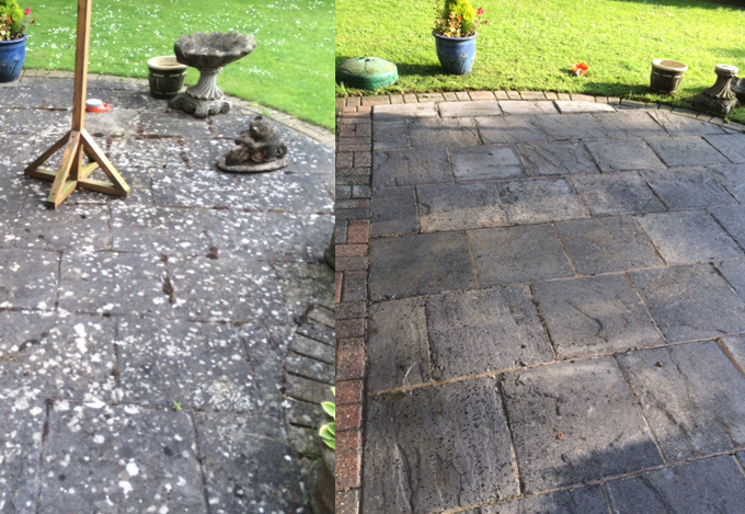 Before and After Patio Cleaning Rutland Alt