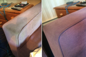 Before & After Sofa Arm Cleaning