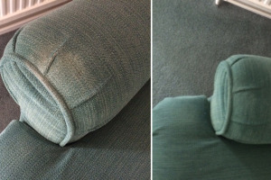 Before & After Chair Arm Cleaning