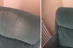 Before & After Chair Backrest Cleaning