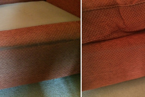 Dirty Sofa Before & After Cleaning