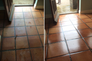 Before & After Quarry Tiles