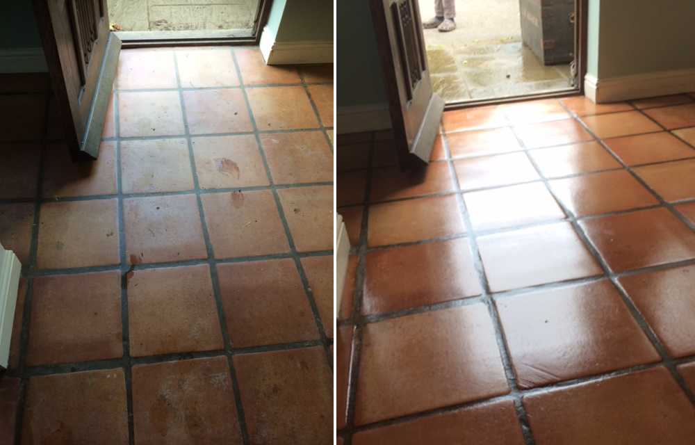 rutland cleaning company quarry tiles before