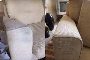 Stained Arm Before & After Cleaning