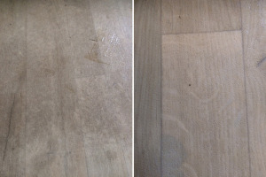 Vinyl Floor Before & After Cleaning