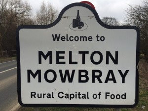 Melton Mowbray sign where I do carpet cleaning