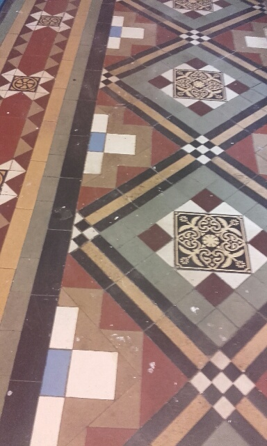 victorian tiled floor cleaning