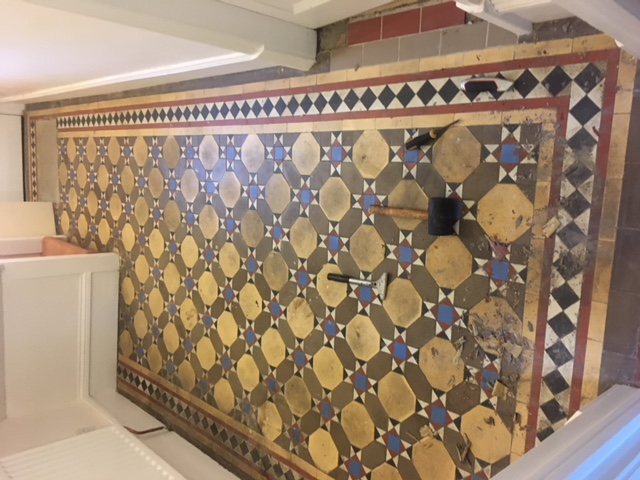 Victorian Tiled Floor Restoration In Stamford The Rutland Cleaning