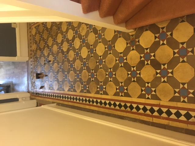 neglected tiled floor